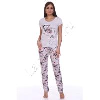 Пижама Flowers (брюки) (кулирка)